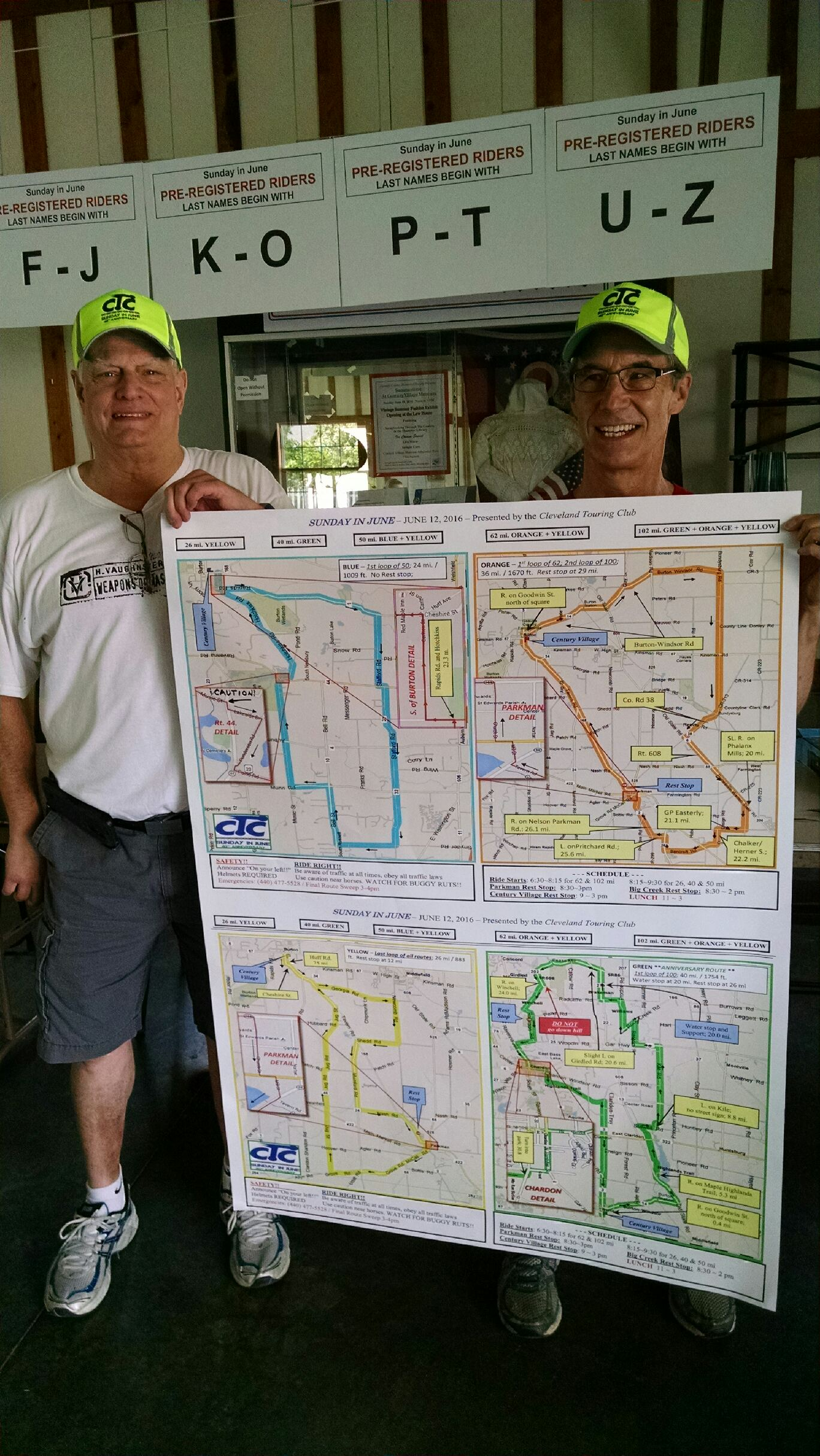 Route maps with Ron Boetger and George Kinnard